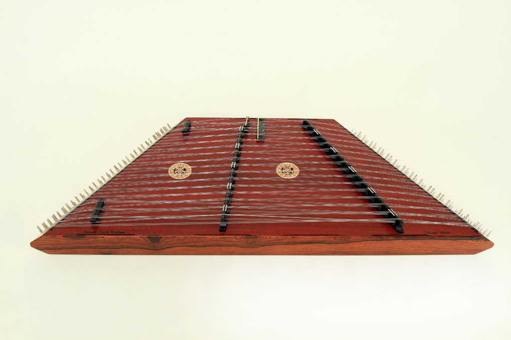 Cocabola Endrails, LS Stained Rosewood Bridges, Red Top