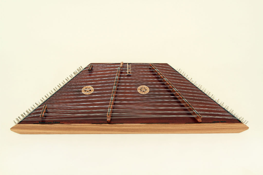 Zebrawood Endrails, Rosewood Bridges, Brown Stain Top